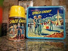 VINTAGE 1954 TOM CORBETT SPACE CADET LUNCH BOX SET  BEAUTIFUL