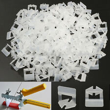 200Pcs Tile Leveling System Clips Spacer Plastic Cross Tiling Tools 1.0mm White