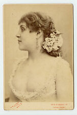 Vintage Cabinet Card Madame Henry Actress Singer Renaissance Thearte Nadar Photo