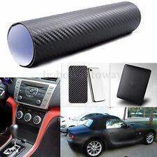 3D Carbon Fiber Fibre Vinyl Car Sticker Wrap Film Sheet Roll Phone Laptop Decal