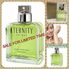 ETERNITY by Calvin Klein COLOGNE FOR MEN 3.4 OZ EDT Spray NEW UNUSED BROWN BOX