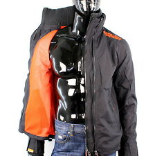 Superdry Herren Gr. S Technical Windcheater Jacke Netz Schwarz Orange N1255