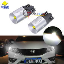 2PCS 3W CREE White T10 LED Bulbs For Car Parking Positon Lights 168 194 2825 W5W