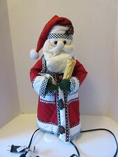 """Santa with a Light up Candle Movable Figurine 21"""" tall"""
