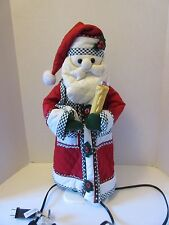 "Santa with a Light up Candle Movable Figurine 21"" tall"