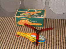 LENDULET VINTAGE FRICTION DRIVEN TIN HELICOPTER. PERFECTLY WORKING W/BOX