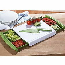 Plastic Chop And Collect Chopping Board Kitchen Food Worktop Cutting Dicing Food