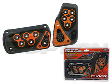 GUNMETAL ORANGE BRAKE GAS PEDAL PADS FOR CROSSFIRE CHALLENGER WRANGLER AUTOMATIC
