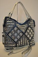 NEW Rhinestone Geometric Design Fashion Handbag