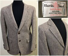 Harris Tweed Wool Herringbone Blazer Jacket Sport Coat 40S Brown USA  Adams Row