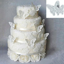 2X New Butterfly Cake Fondant Decorating Sugarcraft Cookie Plunger Cutters Mold&