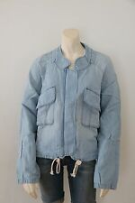 Ann Taylor Loft Pocket Denim Chambray Linen Blend Cropped Jacket NwT X-Large