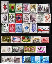 BELGIUM 63 DIFFERENT USED STAMPS COLLECTION LOT #818