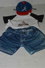 Build A Bear Clothing~Houston Astro's White Shirt~Denim Jeans~Blue Red Cap~G4