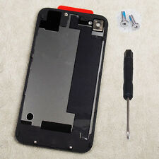 New Battery Back Cover Door Rear Glass Replacement For iPhone 4S Black + Tools