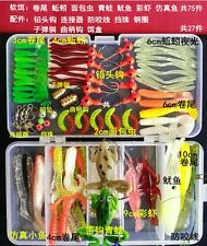 102pcs Outdoor Fishing Lure SoftBait Kit With Accessories Tackle Box