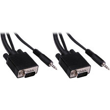 Pearstone 25' Standard VGA Male to Male Cable with 3.5mm Stereo Audio