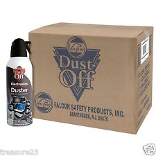 12 pk Compressed Air Computer TV Gas Cans Duster 10 oz Dust Off Laptop Keyboard