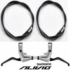 Shimano BL-T4010 Alivio V-Brake Lever Pair Front & Rear Levers Silver inc Cables