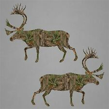 2 Caribou Hunting Sticker Decal Deer Buck Vinyl Car Truck Window Gun Commander