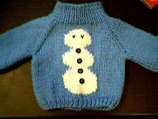 Customized Christmas Snowman Sweater Handmade for 15 inch Bitty Baby Doll