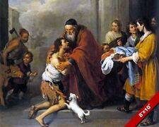 RETURN OF THE PRODIGAL SON PARABLE PAINTING CHRISTIAN BIBLE ART CANVAS PRINT