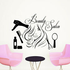 Wall Decal Quote Beauty Salon Make-Up Girl Woman Decals Vinyl Stickers Art LM33