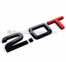 1 -NEW AUDI 2.0T A4 Q5 Q7 Rear Badge Emblem Quattro GLOSS BLACK Audi 2.0T RED T