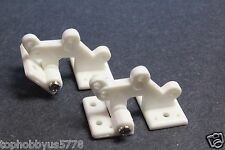 10pcs RC Plane Airplane Hatch Hinges L30xW16mm, White US TH008-00502