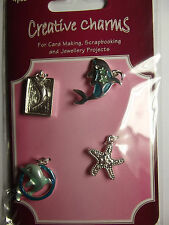 Craftime Creative Charms CH0060 - Dolphin & Starfish charms