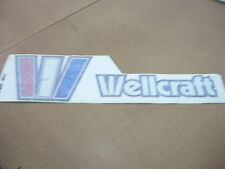 """NOS OEM WELLCRAFT BOAT 6"""" HIGH X 20"""" WIDE STARBOARD NAMEPLATE W2602-2851"""