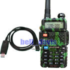 Green UV-5R BAOFENG Dual Frequency UHF/VHF Radio + USB Prog Cable + software CD