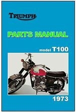 TRIUMPH Parts Manual T100 T100R Daytona 1973 Replacement Spares List Catalog
