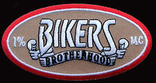 BROTHERHOOD BIKERS EMROIDERED IRON ON MC 4 INCH BIKER PATCH