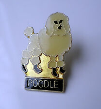 Standard Miniature Toy Poodle Enamel Lapel Pin Badge Brooch Pooch Dog