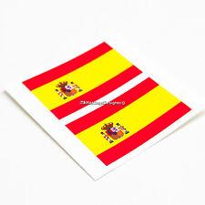 2x Bandera ESPAÑOLA ESPAÑA España Laminado coche, parachoques, Laptop Vinilo Calcomanía Pegatinas