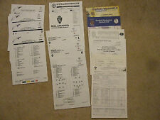 chelsea away press / media team sheet(s) sheffield wednesday 15/4/00