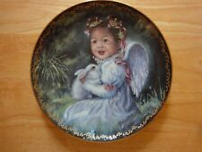 "BRADFORD'S EXCHANGE "" ANGEL'S JOY "" COLLECTOR PLATE BRADEX NO. 84-B10400.2"