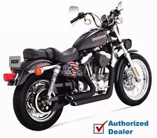 Black Vance & Hines Shortshots Staggered Exhaust Pipes 1999-2003 Sportster XL