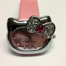 Hello Kitty Watch With Design of Bowknot Diamond