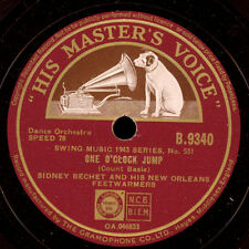 SIDNEY BECHET & HIS FEETWARMERS  One o'clock Jump / Blues in thirds  78rpm X2085
