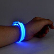 LED Flashing Wristband Bracelet Night Bike Rider Runners Party Christmas Gift