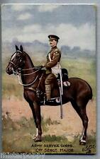 Army Service Corps Sergent Major TUCK series 9167 PC Circa 1910