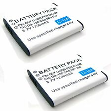 2x 3.7v Li-ion Battery for PENTAX 398002 D-Li92 D-L192 39805 D-BC106 D-BC92 U