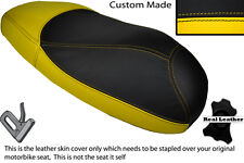 YELLOW & BLACK CUSTOM FITS HONDA X8R X8RS 50 DUAL LEATHER SEAT COVER ONLY