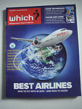 Which? Magazine July 2010 - Best Airlines - Gloss Paint - Light Bulbs - Freezers