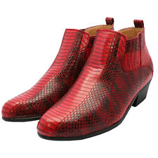 Men's Dress Shoes Antonio Cerrlli 5159 Zippered Boots Cuban Heel snake