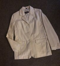 Women's Excelled Collection Medium Leather Jacket Vanilla Nwt