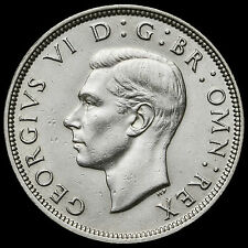 1938 George VI Silver Half Crown – Scarce – EF #2