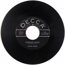 SANDRA MEADE: Midnight Blues DECCA '57 Rockabilly 45 Rare HEAR IT